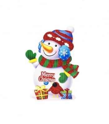 3D Коледен стикер-Снежен човек