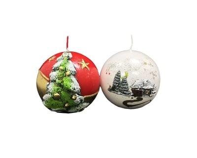 Луксозна Коледна свещ-топка
