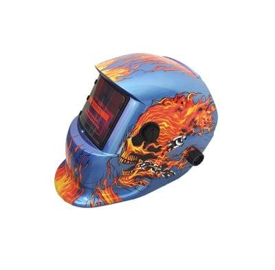 Фотосоларна маска за заваряване-Огнен череп Tig Tag