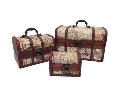 Комплект дървени кутии -  3 броя