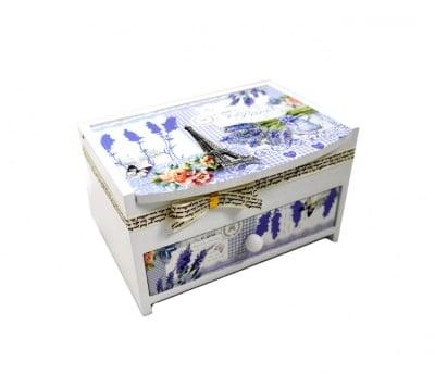 Дървена кутия за бижута Lavender