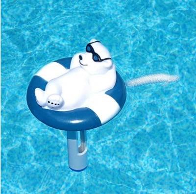 Плуващ термометър за басейн-Бял мечок