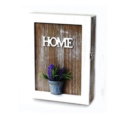 Дървена кутия за ключове Lavender
