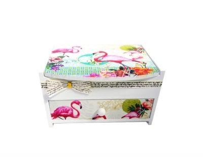 Кутия за бижута Фламинго