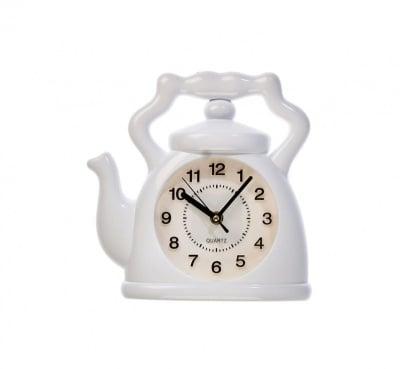 Стенен часовник-Бял чайник
