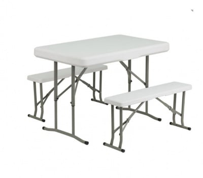 Сгъваема маса с пейки De Home