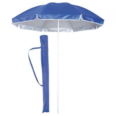 Цветен плажен чадър с UV защита