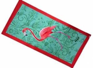 Плажна хавлия с  фламинго