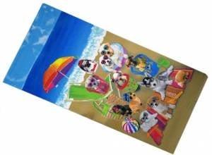 Плажна хавлия - кучета на плажа
