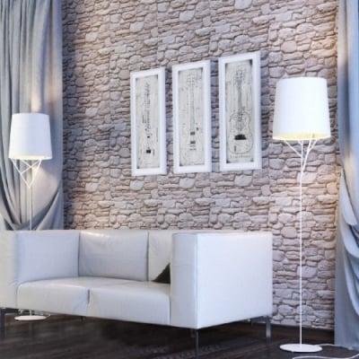 Комплект PVC ламперия с 3D ефект  Камък