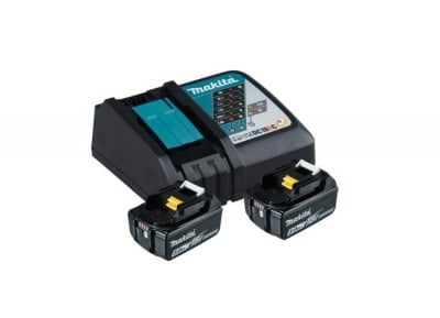 Комплект бързо зарядно устройство и 2 батерии BL1850B Makita