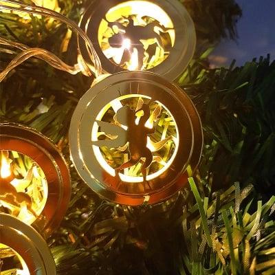 Коледни светещи гирлянди, ангелчета