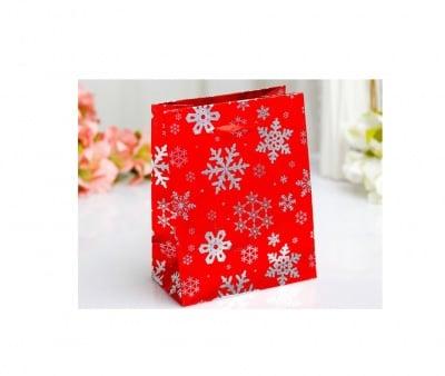 Коледна подаръчна торбичка Снежинки