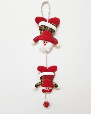 Висяща текстилна украса Снежко и Дядо Коледа