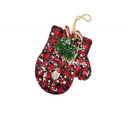 Коледна украса за закачане - ръкавичка