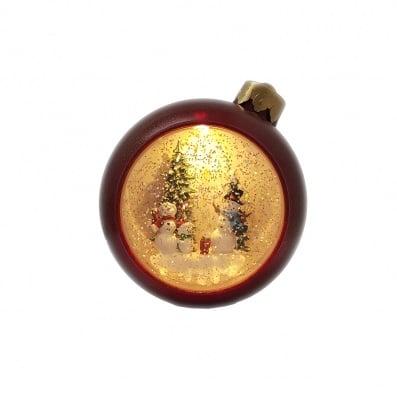 Музикално Коледно LED преспапие - топка