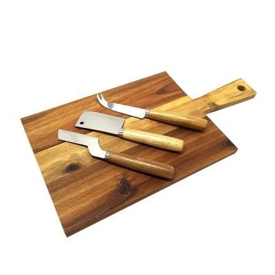 Комплект три ножа за сирене и дъска