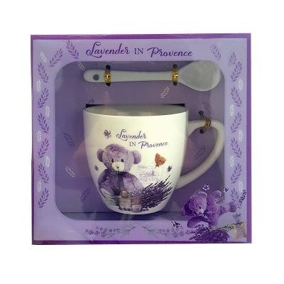 Комплект порцеланова чаша с лъжичка Lavender in Provence