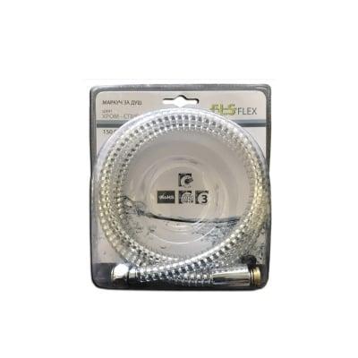 Маркуч за душ PVC сребро-спирала