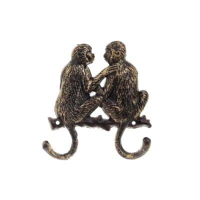 Метална закачалка - маймунки