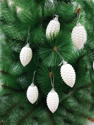 Комплект бели шишарки за елха