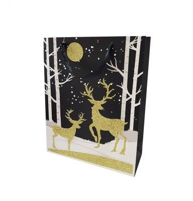 Луксозна Коледна подаръчна торбичка