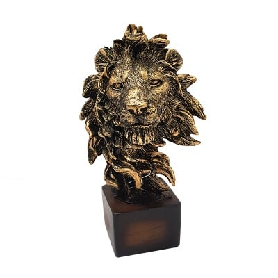 Статуетка - глава на лъв / мечка