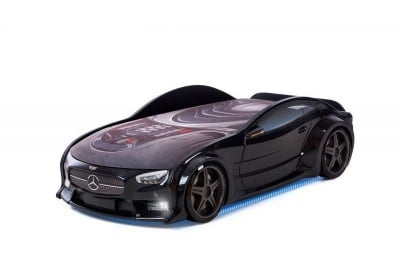 Светещо 3D легло - кола черен Мерцедес Neo + матрак