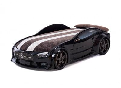 3D легло - кола черен Мерцедес Neo + матрак