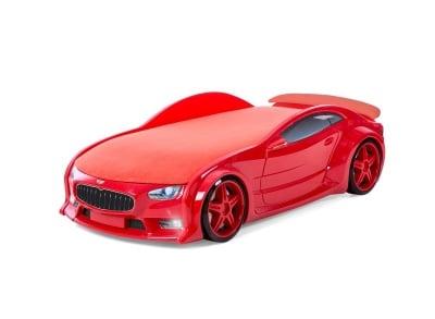 Светещо 3D легло - кола червено Мазерати Neo + матрак