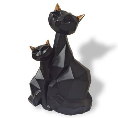 Геометрична скулптура - черни котки