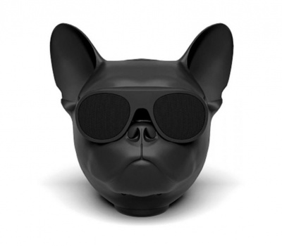 Безжична преносима Bluetooth колонка French bulldog Black matt