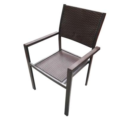 Стол с подлакътници - ратан