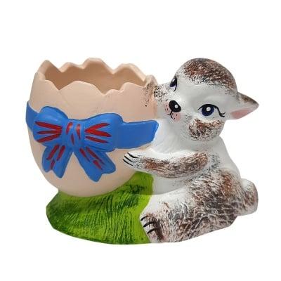 Градинска фигура - зайче с черупка