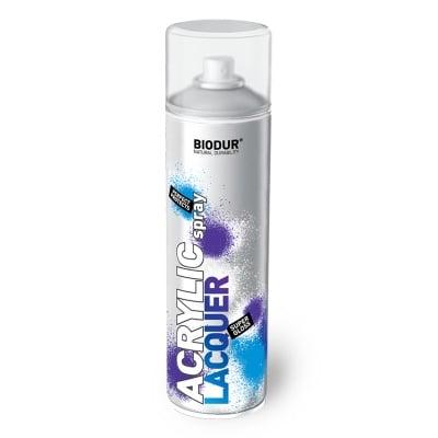 Акрилен спрей безцветен лак BIODUR 500 мл - гланц