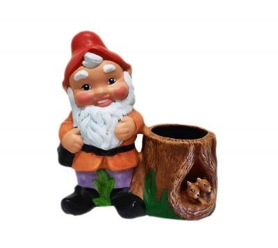 Керамична фигура Джудже с кашпа