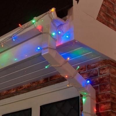Коледни разноцветни LED лампички 120 бр. за външна употреба  - 10 м.