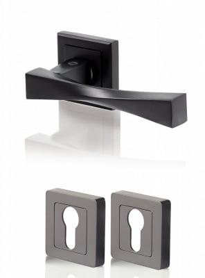 Дръжки Верона - черен мат / секретна ключалка
