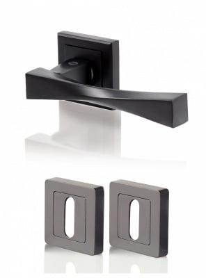 Дръжки Верона - черен мат  / обикновена ключалка