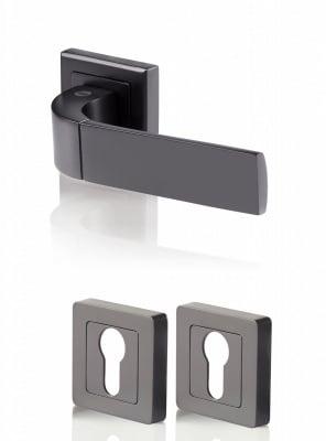 Дръжки БОЛОНЯ черен мат /  обикновена ключалка