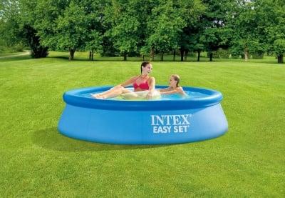 Надуваем басейн 244 х 61 см. Intex Easy set
