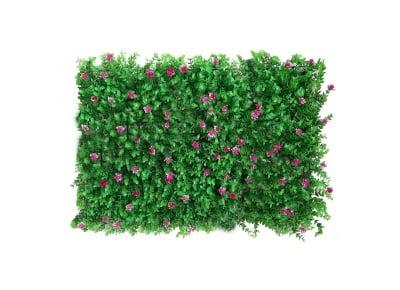 Пано изкуствена зеленина Розови цветя