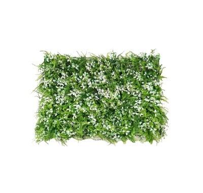 Пано изкуствена зеленина White and green