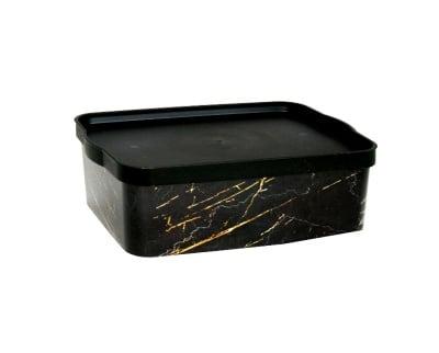 Кутия за съхранение Черен мрамор 14 л.