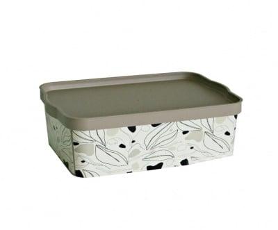 Кутия за съхранение Floral Beige 14 л.