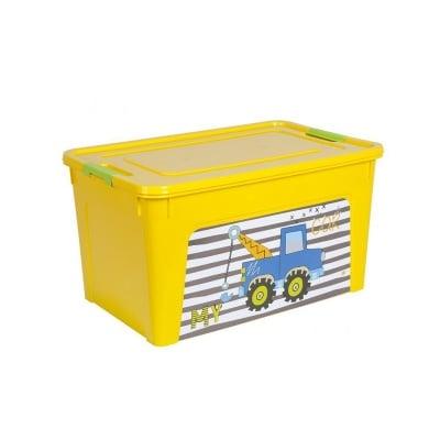 Детска кутия за играчки 27 л - жълта