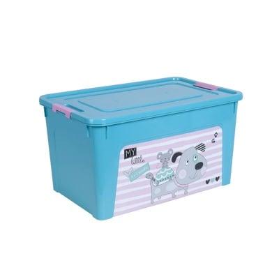 Детска кутия за играчки 27 л - тюркоаз