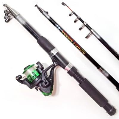 Комплект риболовен прът DOUBLE FISH 210 см и макара DH 200X