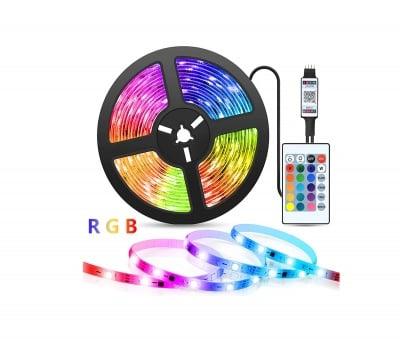 Комплект LED лента със захранване и дистанционно управление RGB 5 м Vivalux