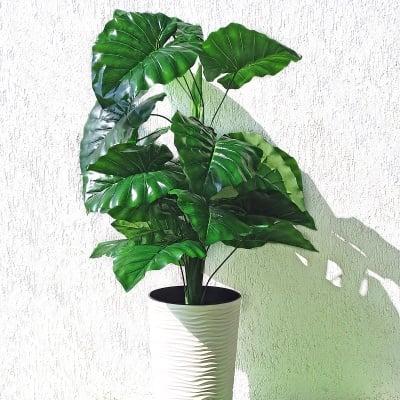 Изкуствено цвете за саксия с широки листа